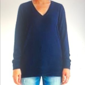 Lucky Brand V Neck Tunic Sweater